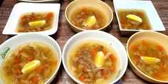 Huspenina podľa babičky - Tinkine recepty Ramen, Cantaloupe, Soup, Fruit, Ethnic Recipes, Soups