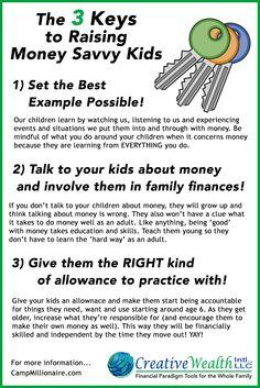 3 keys to raising money savvy kids