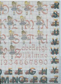 alphabet de danseur (2) - toutes-les-grilles.com grilles gratuites point de croix crochet tricot amigurumi Images Aléatoires, Calendar, Ballet, Holiday Decor, Crochet, Monograms, Amigurumi, Cross Stitch Alphabet, Dancer