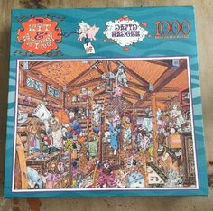 Pillow Fight Wit & Whimsy of David Badger 1000 piece SEALED Puzzle Excellent!  | eBay