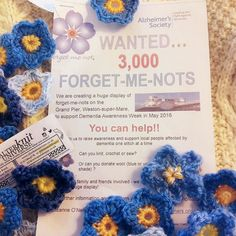 We are a collection point for the 3000 Forget-me-nots that are going on display in Weston-Super-Mare to benefit the Alzheimer's Sociey.  One of our knit group ladies started this project & its gained a lot of momentum. We are so proud. :) come get a free knit or crochet flower pattern & get involved! #alterknituniverse From our shop account: @AUshopUK follow us for more fun peeks into our shop near Bristol UK. http://ift.tt/1SPuuxi We're the wool shop in Cleeve with the big sheep mural on…
