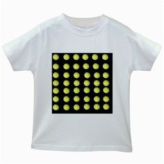 Golf Balls Poker Dots,  Kids White T-Shirt