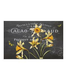 Love this Black & Yellow Floral Place Mat - Set of 24 on #zulily! #zulilyfinds