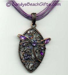 beautiful dragonfly pendant from SandysBeachGifts.com