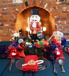 "Children's Christmas Table - Nutcracker ""Sweet"" - Party Planning - Party Ideas - Cute Food - Holiday Ideas -Tablescapes - Special   Occasions And Events - Party Pinching  http://www.partypinching.com/parties-holidays/children-s-christmas-table-nutcracker-sweet/"