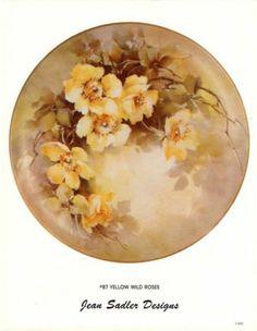Jean Sadler China Painting Study 87 Yellow Wild Roses Instructions Pattern | eBay