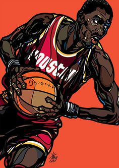 Korean illustrator Min-suk Kim, better known as Kwang33, has been contributing to basketball publications for the past nine years  Hakeem Olajuwon