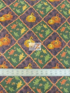 100% Cotton Quilt Novelty Prints Fabric / Blessings Whimsies And Wishes Pumpkins By Studio E Fabrics / Sold By The Yard