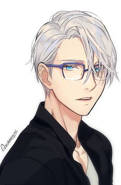 Victor with Yuri's glass - Yuri!!! on ICE