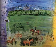 The Racecourse of Deauville - Raoul Dufy -