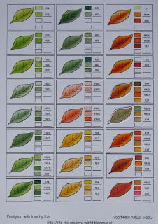 Copic color combos: Leaves