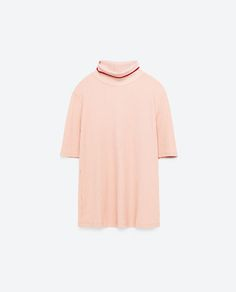 Image 8 of TURTLE NECK T-SHIRT from Zara
