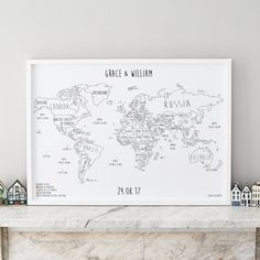 Personalised World Pinboard Map