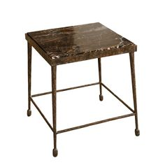 Image of Paul Marra Iron and Stone Side Table