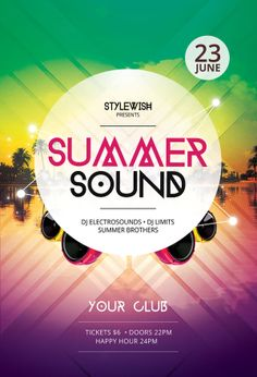 Summer Sound Flyer by styleWish (download PSD file)