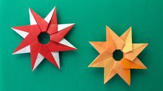 ★折り紙でクリスマスの飾り★リングスター Ring Star