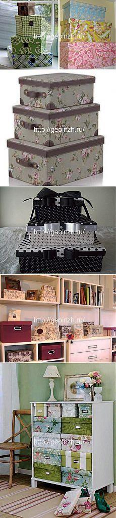 Вторая жизнь обувной коробки -12 идей   Декор и дизайн своими руками