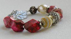 Raspberry Variscite Handmade Beaded by bdzzledbeadedjewelry, $29.00