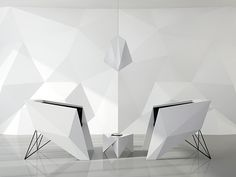 """Concept chair for meeting rooms, reception. Inspired by the shape of the product plane F-117 """"stealth""""."""