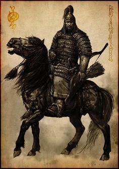 Mongol officer, concept drawing
