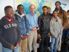 "TeenSHARP students meet US Senator Tom Carper during ""Coast Day"" at the University of Delaware's Marine science campus."