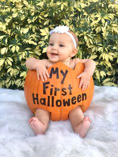Baby in a Pumpkin My First Halloween