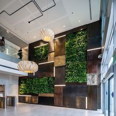 "42 Likes, 2 Comments - Interior Design & Architecture (@interiordarch) on Instagram: ""Green wall in the reception atrium at Verint Offices- Herzliya #interiordesign #interior #design…"""