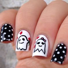 Cool and Easy Halloween Nail Ideas ★ See more: http://glaminati.com/halloween-nail-ideas/