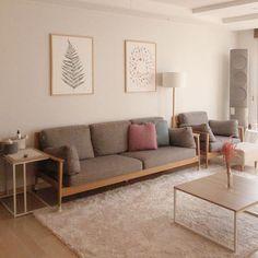 Living Room Sofa, Living Room Interior, Home Living Room, Home Interior Design, Living Room Designs, Living Room Decor, Japanese Home Decor, Aesthetic Room Decor, Jolie Photo