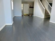 50 50 Minwax Classic Gray And Pickled Oak On Red Oak