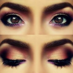 Smokey eye with purple