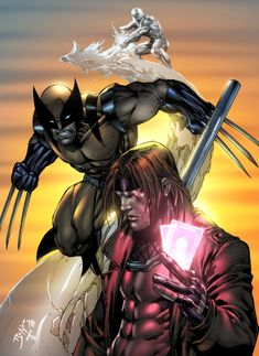 Wolverine, Iceman, and my first ever Gambit Pencils by Ed Benes Colors by ME (Juan Fernandez)