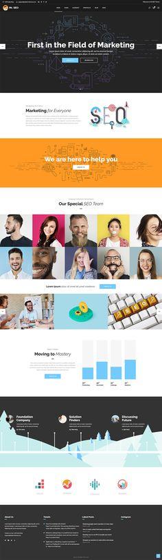 Mr. Seo WordPress theme is compatible with many SEO plugins , such as the Google Anlytics by Yoast plugin, the All in One SEO plugin and many more.  #wordpress #theme #webdesign #design #seo #marketing #digitalmarketing #marketingagency #startup #hosting #socialmedia