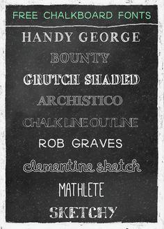 free chalkboard fonts!