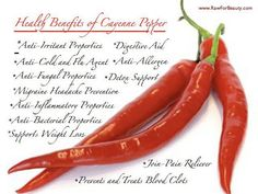 cayenne peppers, the health benefits