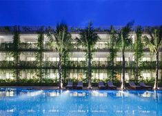 Vo Trong Nghia's hotel features hanging gardens on its facades