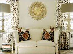"the sister sophisticate: ""Get'chu Some!""...Modern Glam by Mary Ruth Caldwell and Lisa Caldwell Flake of Caldwell-Flake Interior Design A little ethnic, a little rustic, and a whole lot of glam!"