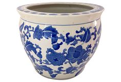 Blue and White Cachepot $450 $445 $19.99