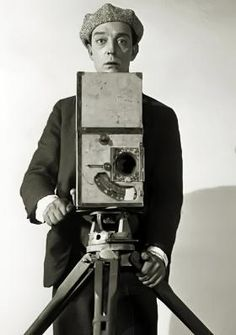 """Buster Keaton (1895-1966) American actor, vaudevillian, comedian, silent filmmaker, stunt performer and writer known for trademark physical comedy performed with a consistent stoic, deadpan expression, thus the nickname """"The Great Stone Face"""""""