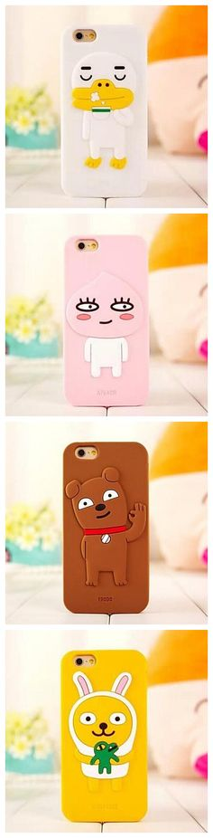 We dig these cartoon iPhone cases. It's like they're waving hello! Take the one you love!