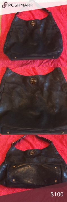 Tory Burch Black Leather Hobo Bag In great condition! Comes with original dust bag. Tory Burch Bags Hobos