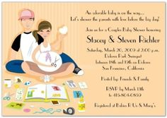 Baby Shower Invitations, Couple Baby Shower Invitations Peach Color Ideal Background Theme ~ Perfect Couple Baby Shower Invitations Design Ideas