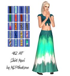 THIS IS FOR SIMS 2.  4t2 AF Skirt Maxi  This is for adult female.  It comes in all EAxis colors.  Morphs are included.  Thanks @holleyberry for testing ;)  DOWNLOAD  Credits: EAxis