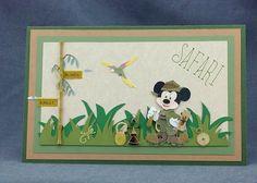Handmade Mickey Mouse Safari card by CraftyGalCards on Etsy