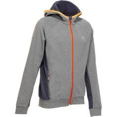 f68e4d6e0b Felpa con cappuccio bambino gym ENERGY grigio-arancione