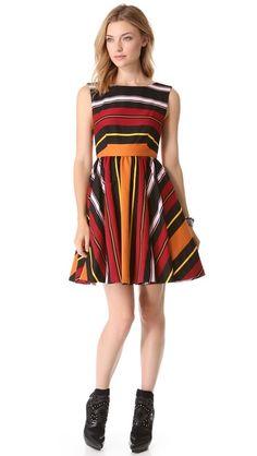 alice + olivia Fila Flare Dress