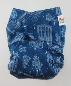Doctor Who OS AiO Cloth Diaper - Yellow/Blue Inner