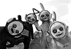 teletubbies black and white - Google Search