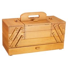 Wood works This well-loved wooden classic sewing box has three pull-out layers on each side with five compartments of various sizes. It's made in dovetailed pine. John Lewis Large Cantilever Sewing Box, £65. There's a small version for £47 prima.co.uk