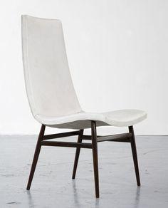 Joaquim Tenreiro; Unique Jacaranda Desk Chair, 1950s.